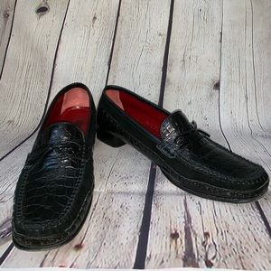 Salvatore Ferragamo Croc and suede loafers